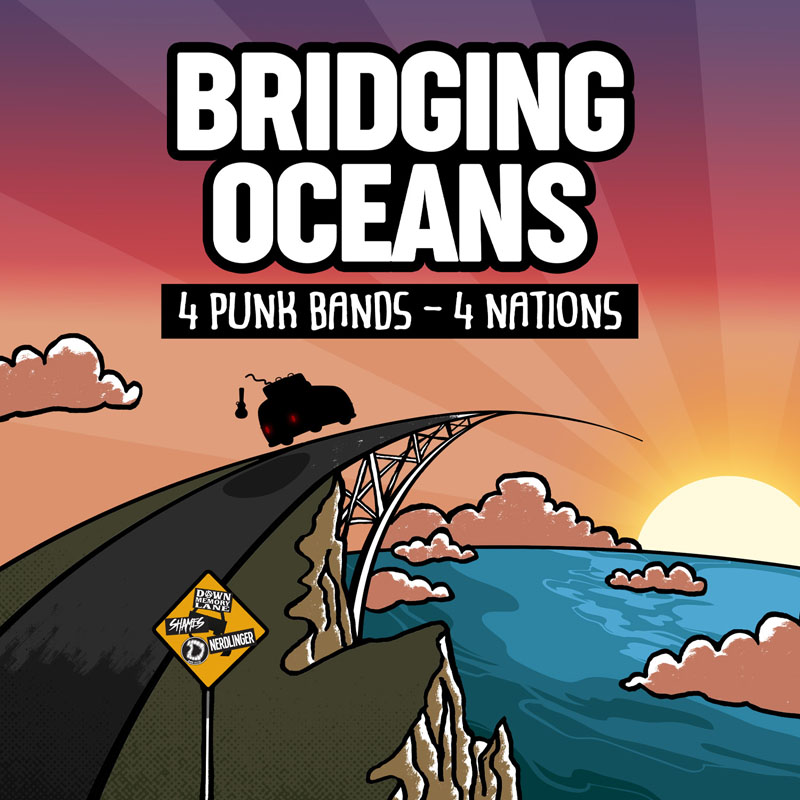 4 Nations Skate Punk Bands Split BRIDGING OCEANS