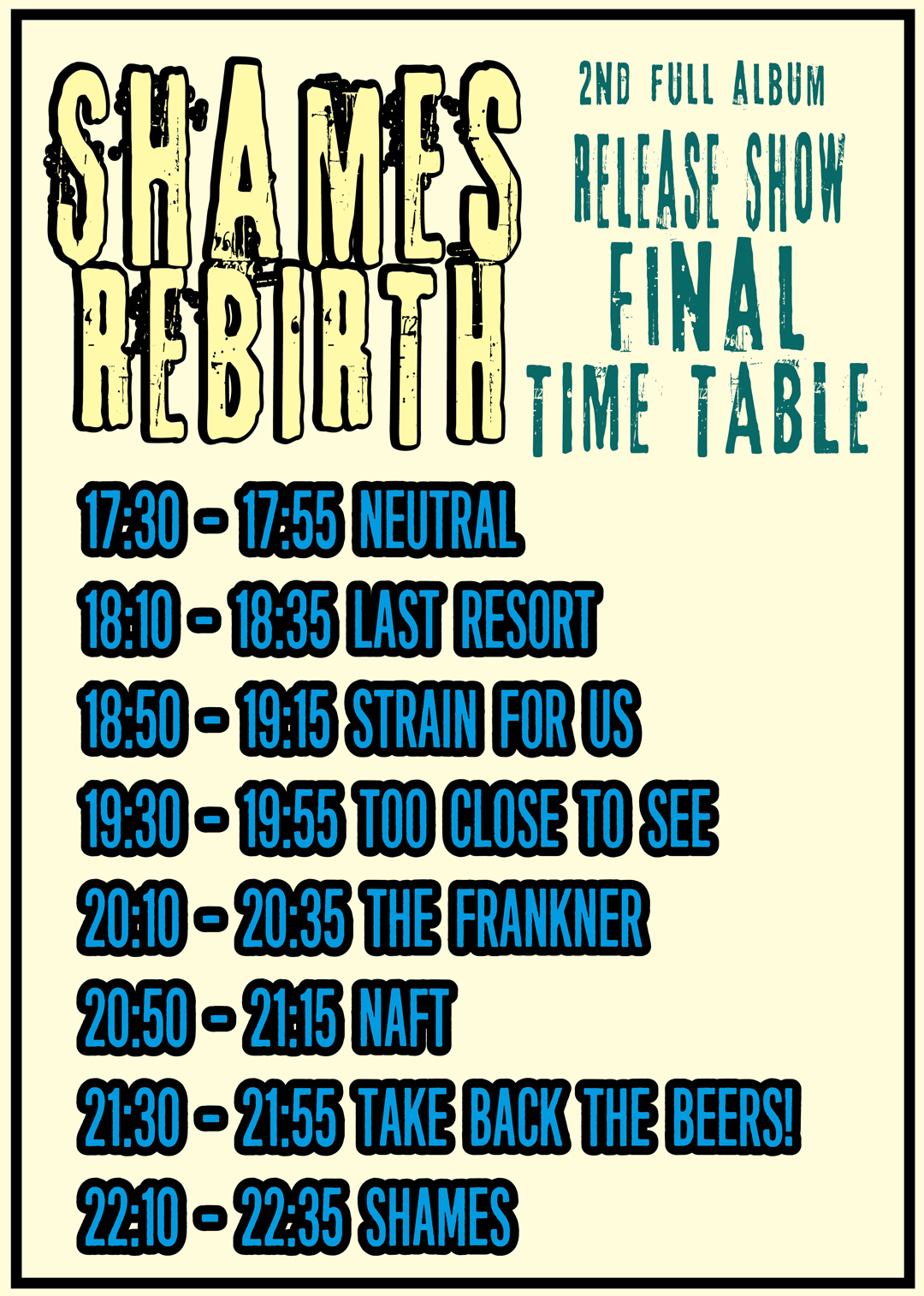 PLAY GROUND REBIRTH FINAL Time Table