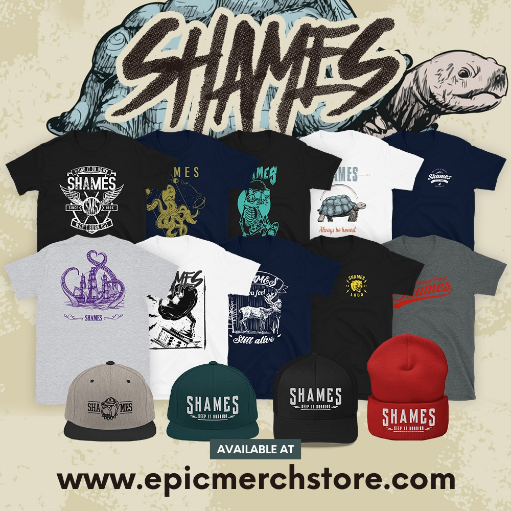 SHAMES merch available at Epic Merch Store